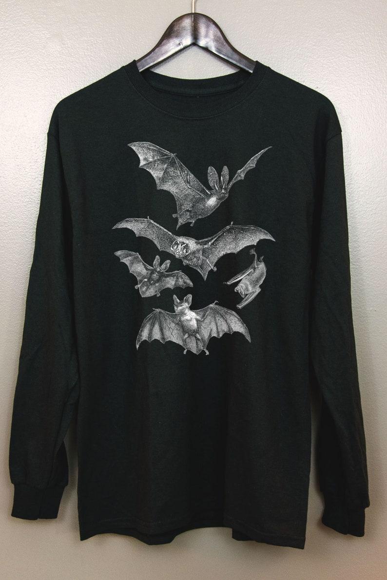Gothic Long Sleeve T Shirt  Witchy clothing Pastel goth Dark image 0
