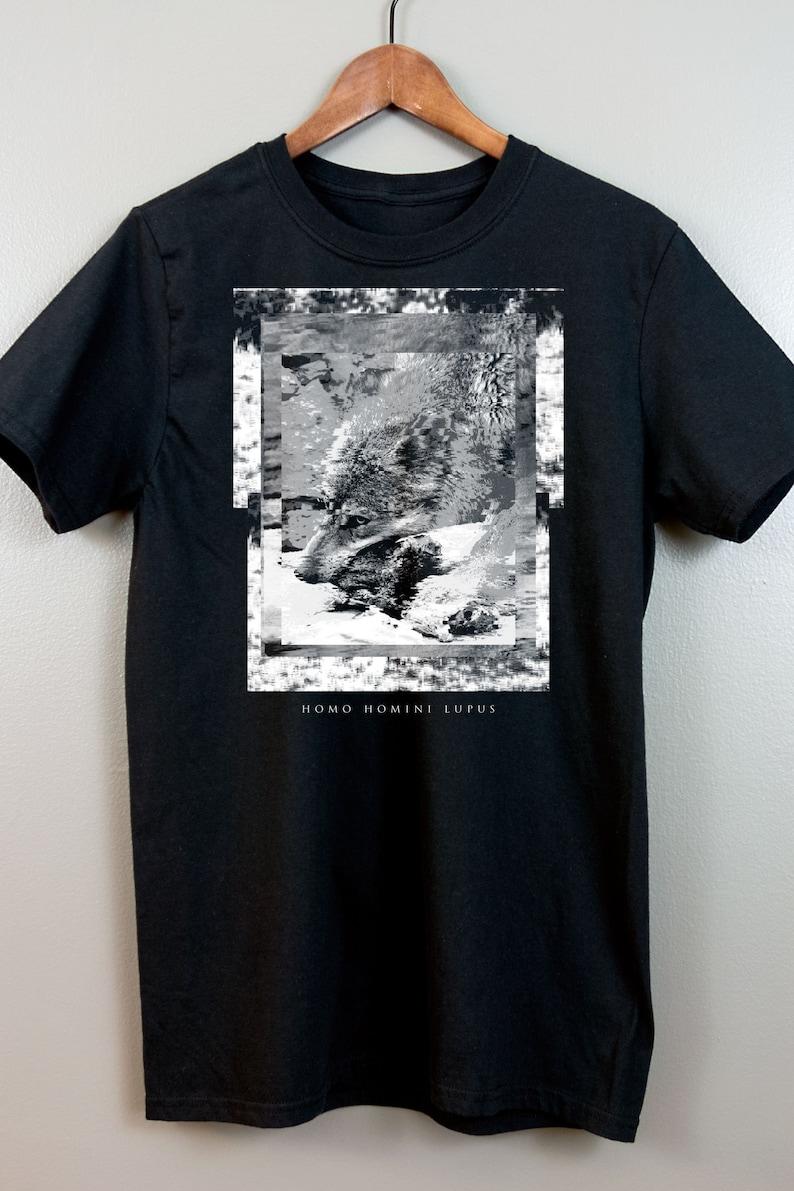 Gothic Short-Sleeve T Shirt  Witchy clothing Glitch art image 0