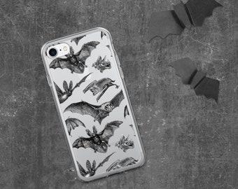 Gothic iPhone 7 8 11 pro plus SE X XS Max XR case   Witchy Pastel goth Dark grunge Tumblr aesthetic Halloween   Release the Bats Transparent