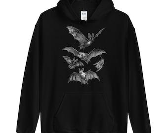 Gothic Hoodie Hooded Sweatshirt   Witchy clothing Pastel goth Dark grunge Tumblr aesthetic Halloween Vampire Bat Vintage   Release the Bats