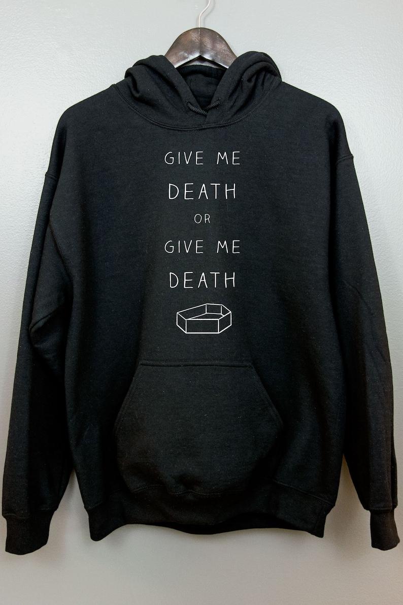 Gothic Hoodie Hooded Sweatshirt  Nu goth Pastel goth Soft image 0