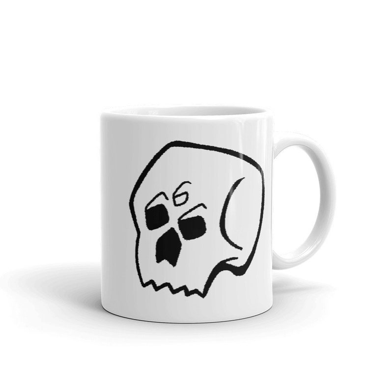 Gothic coffee mug  Skull Grim Reaper Death Nu goth Caffeine image 0