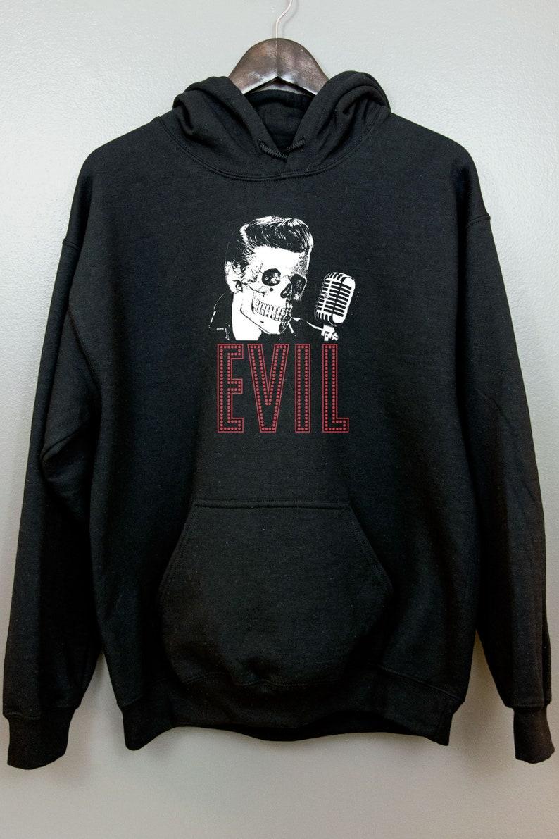 Psychobilly Hoodie Hooded Sweatshirt  Nu goth clothing Evil image 0