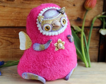 fantasy creature doll griffin art bird toy fantasy ooak sculpture dragon doll ooak figurine