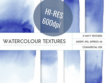 Navy ombre watercolor backgrounds **commercial use** very large 600dpi