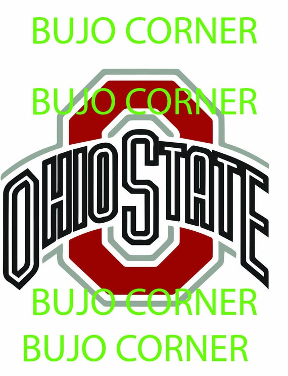 Ohio State Buckeyes College Logo Svg Pdf Ai Etsy