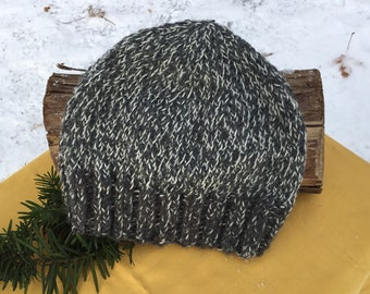 4cfb401a710 Men s gray tweed knit beanie