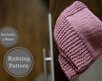 Bordered Washcloth Pattern | Easy Knit Washcloth Pattern | Easy Dishcloth Knitting Pattern | Beginner Knitting Pattern | Home Knit Pattern