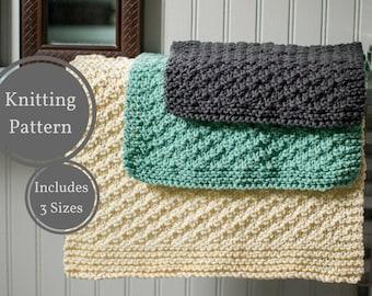 Washcloth Dishcloth Pattern | Easy Knit Washcloth Pattern | Easy Dishcloth Knitting Pattern | Beginner Knitting Pattern | Home Knitting