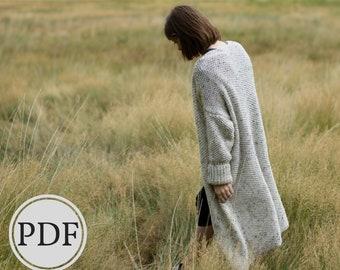Banff Oversized Cardigan Knitting Pattern | Knitted Cardigan Pattern | Knit Sweater Pattern | Oversized Sweater Knitting Pattern | Fall Knit