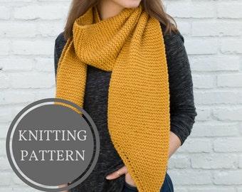 Louise Scarf Pattern | Beginner Knitting Pattern | Open Ended Scarf Pattern | Knit Scarf Pattern | Garter Stitch Scarf | Easy Knit Pattern