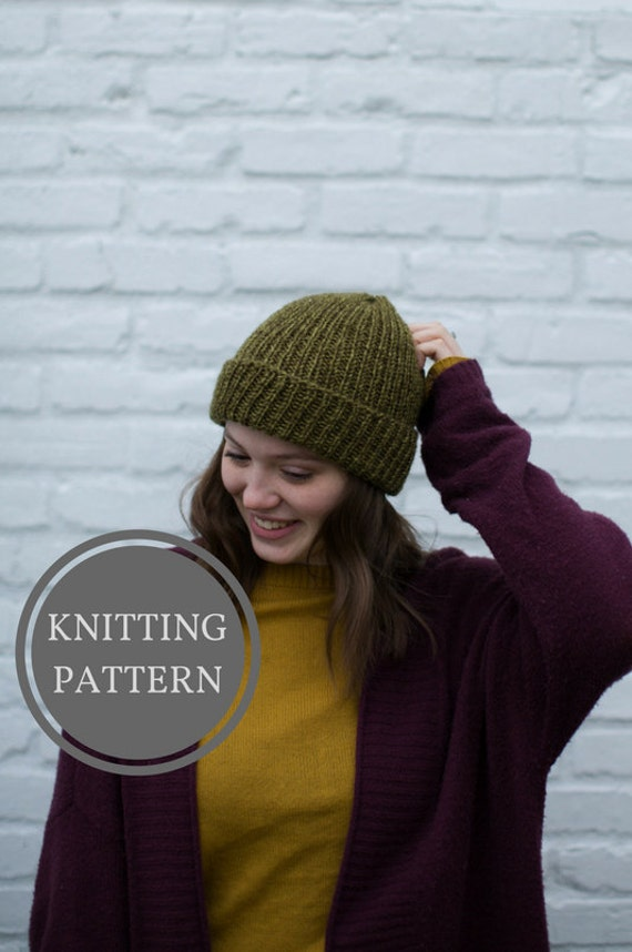 Thorsmork Beanie Knitting Pattern Beginner Knitting Pattern Etsy