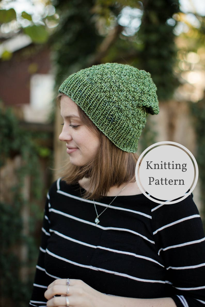 Muir Woods Beanie Knitting Pattern Easy Knitting Pattern  1042ab57105