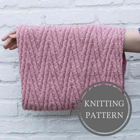 Minnewanka Cowl Pattern Beginner Knitting Pattern Easy Etsy
