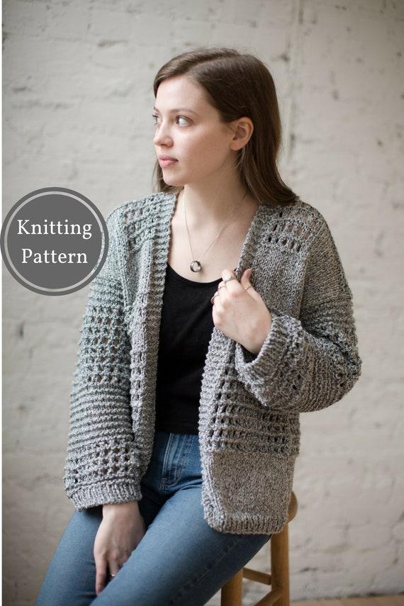Fernweh Cardigan Knitting Pattern Easy Lace Knitting Pattern Etsy