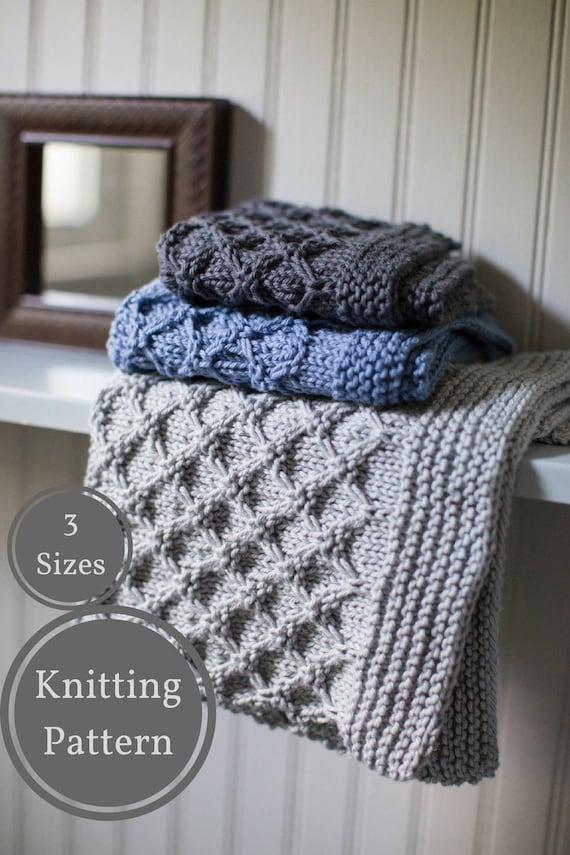 Mock Honeycomb Washcloth Pattern Easy Knit Washcloth Pattern Etsy