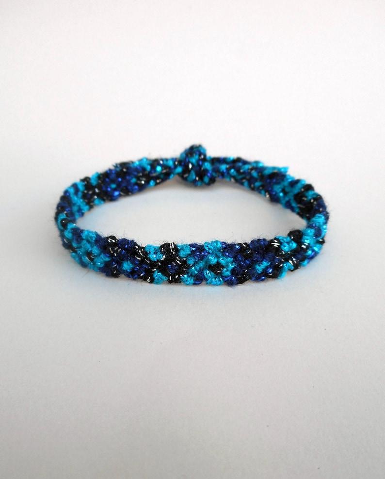 Friendship bracelet Fish bracelet Metallic yarn Trendy bracelet Glitter yarn bracelet Girlfriend gift Hippie chic Surfer gifts