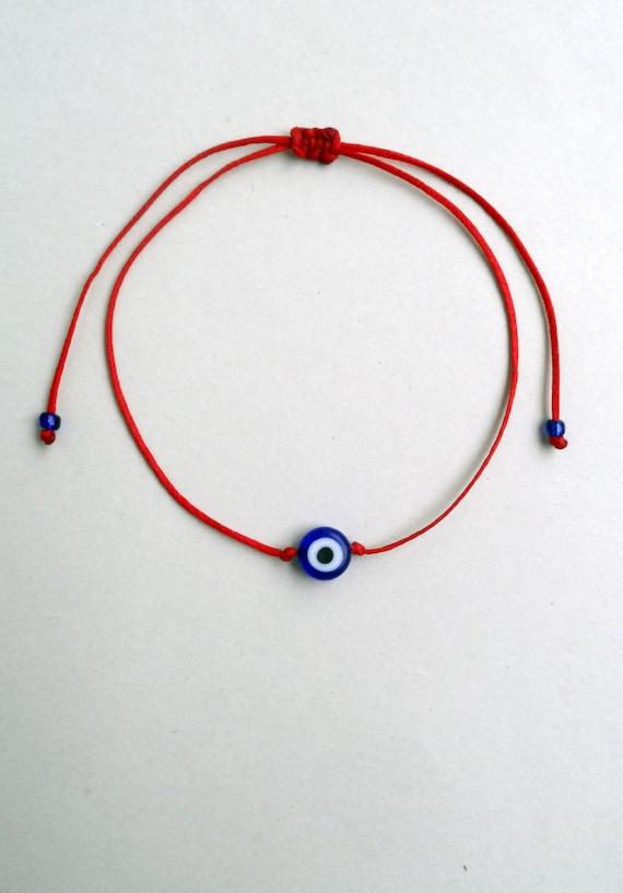 Evil eye bracelet fil rouge bleu evil eye bracelet Simple   Etsy 4542e53c86a2