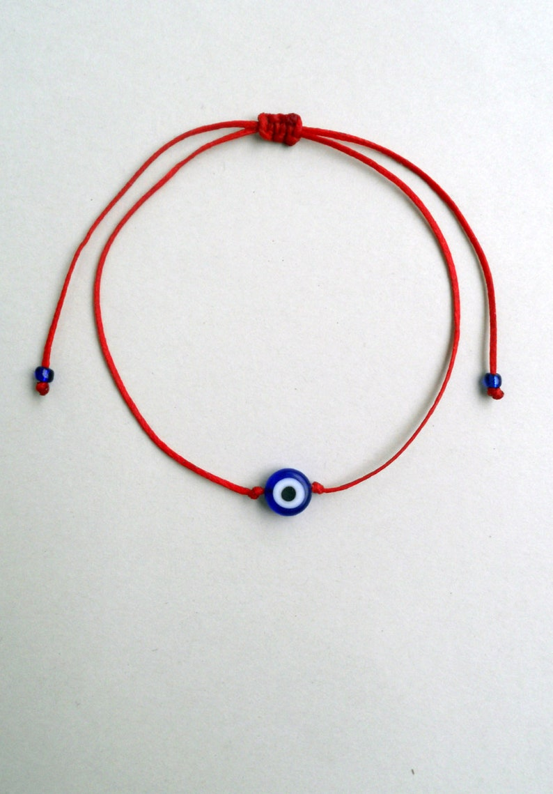 Blue Evil eye bracelet Red string bracelet Simple jewelry Red