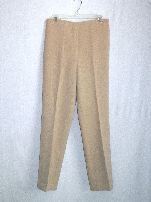 078b1cd0fa0b Vintage St. John BeiGe Camel KniT Slacks pants trousers 30 x