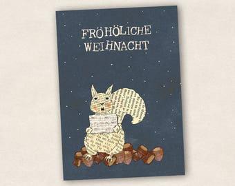 Gebastelte Weihnachtskarten.Weihnachtskarten Etsy De
