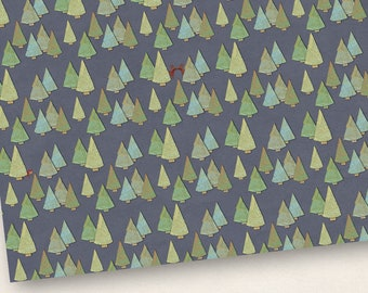 3x Gift wrapping Paper Forest 50x70