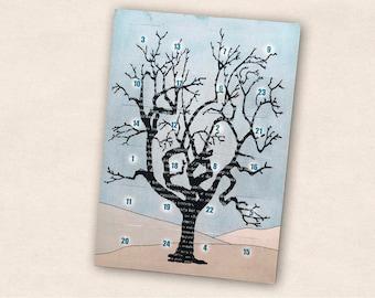 Postcards Advent Calendar Tree
