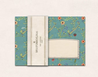 10 envelopes flowers