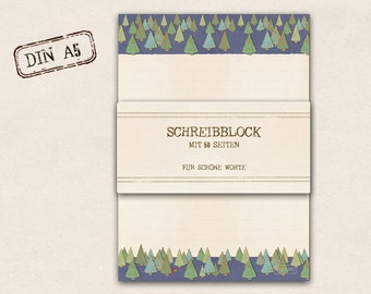 stationery - Writing pad - forest