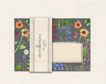 10 x envelope wildflower meadow (grey)