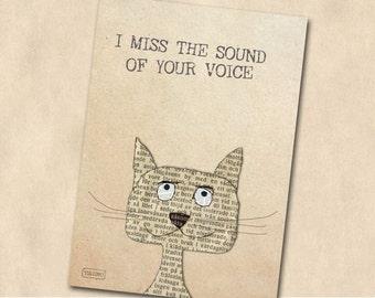 Postcard: I miss you
