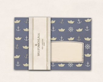 10 x envelope maritim