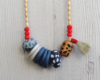 SALE Nyah Polymer Clay Necklace