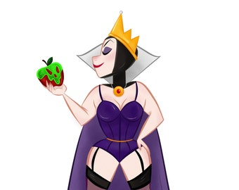 Disney Villains | Evil Queen Pin Up