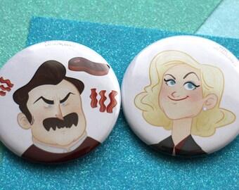 Leslie & Ron | Badges