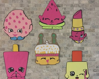 6 Shopkins Wall Decorations Birthday Party Decoration