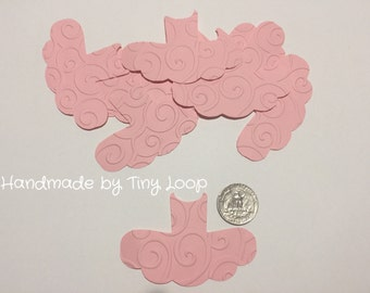 20 Ballet Tutu Embossed Cutouts 2x3 Cupcake Toppers, Party Decorations, Confetti