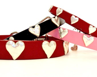 Heart Leather Collars