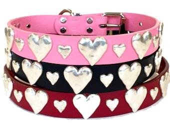 Double Hearts Collar - Large Dog Sizes