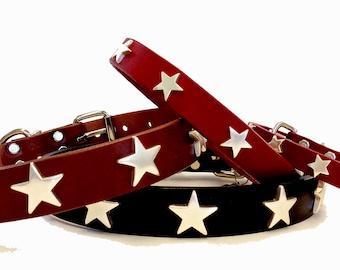 Star Leather Collars