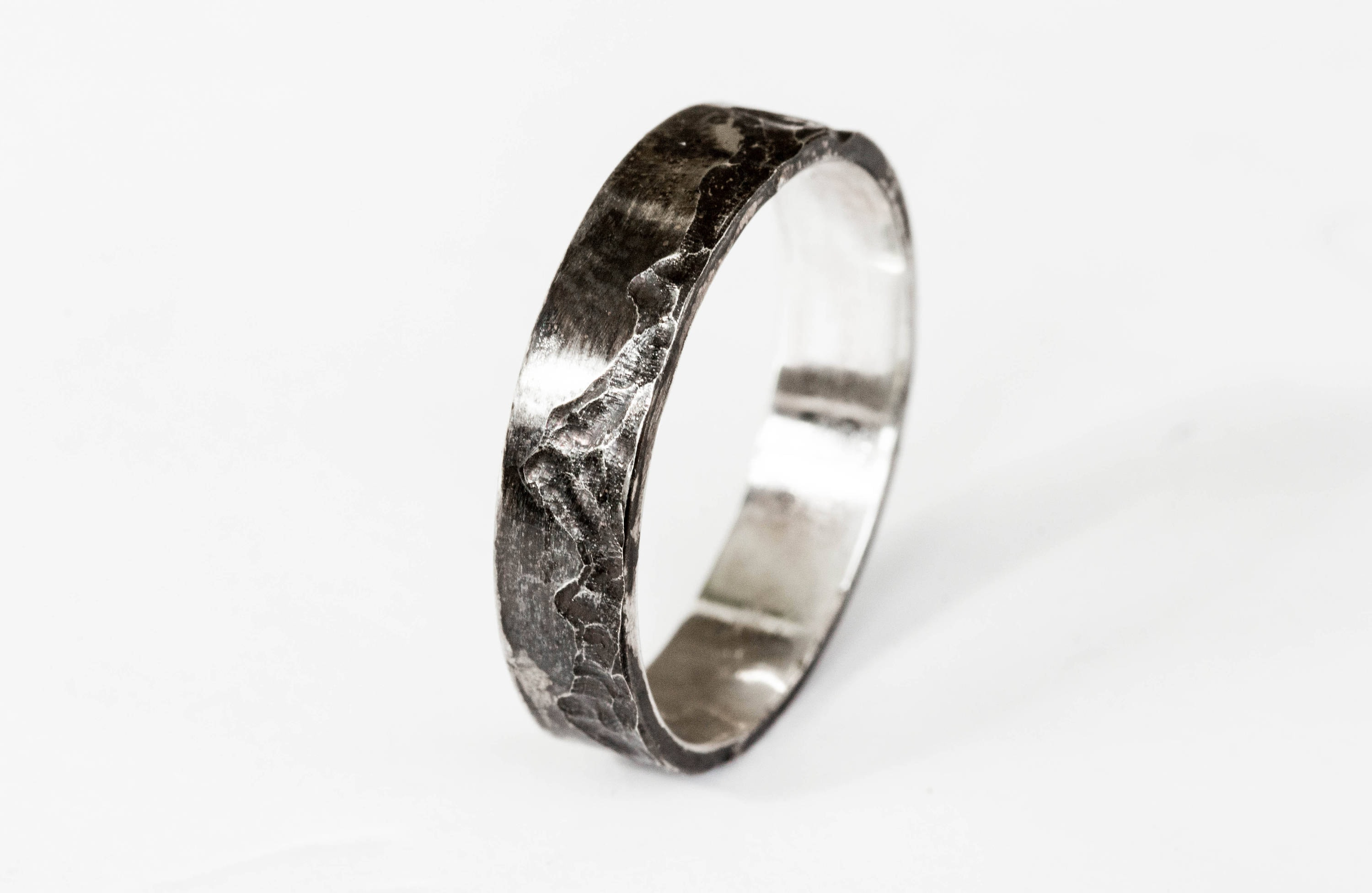 Mountain sterling silver mens wedding band, sterling silver wedding ...