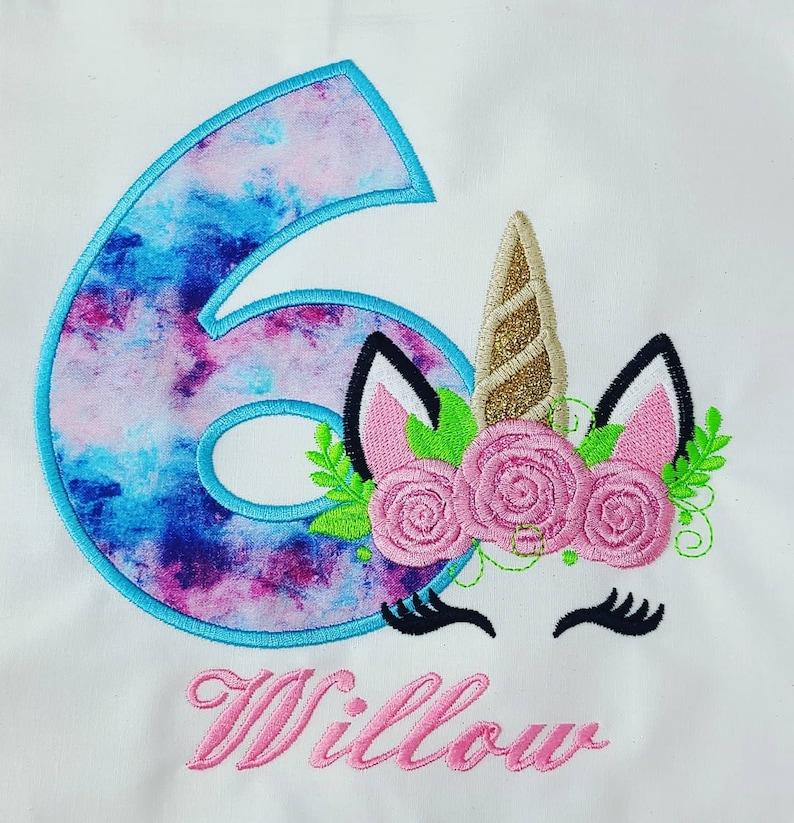 Unicorn birthday shirt any name and number personalized shirt cake smash photo shoot unicorn birthday handmade unicorn party