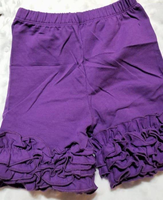 Purple Ruffle Shorts