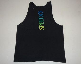 116249ae3b9b38 Vintage Speedo Tank Top Shirt 1990s L