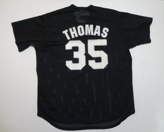 the best attitude fd19d feac6 Chicago White Sox Frank Thomas 35 Jersey Shirt Vintage 1990s Majestic