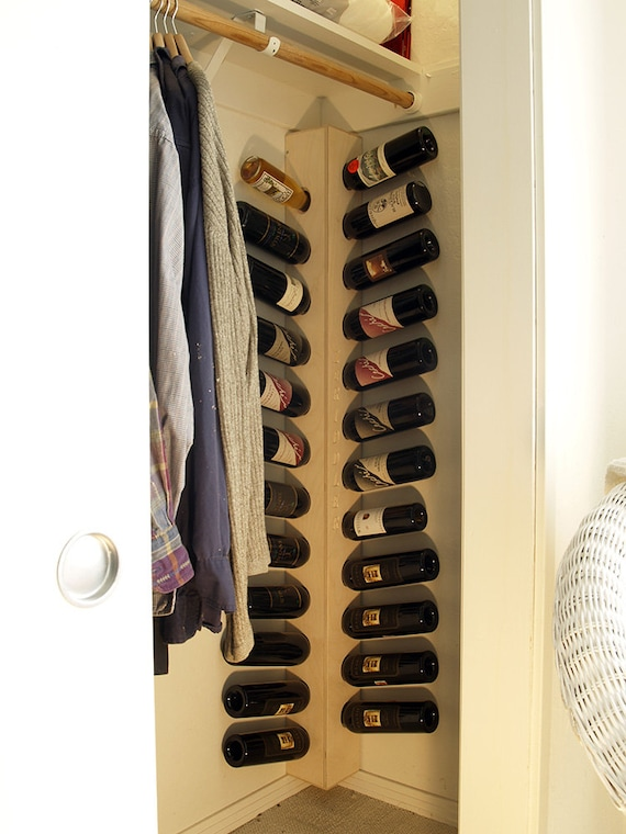 Wall Mounted Wine Rack For Corners Etsy