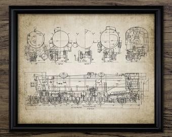 Train Schematic Etsy