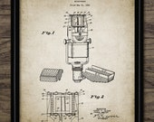 Vintage Microphone Patent Print - 1938 Microphone Design - Mic - Mike - Dynamic Microphone - Single Print 2298 - INSTANT DOWNLOAD