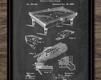 Snooker Cue Snooker Sport Billiards And Pool Cue Patent Print Single Print #1043 INSTANT DOWNLOAD 1910 Snooker Cue Design
