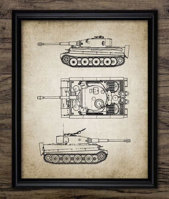 Tiger Tank Patent Print - World War 2 German Army Main Battle Tank - Tank  Schematic - Tank Blueprint - Single Print #1180 -INSTANT DOWNLOAD
